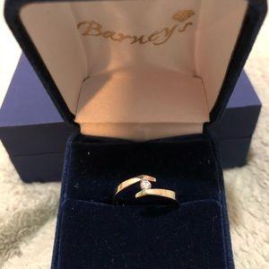 Jewelry - 10K White Gold & Diamond Bypass Ring